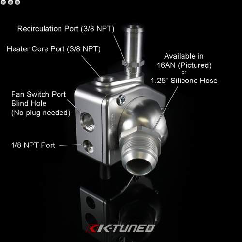 K-Tuned - Swivel Thermostat V2 (Direct Bolt-On)