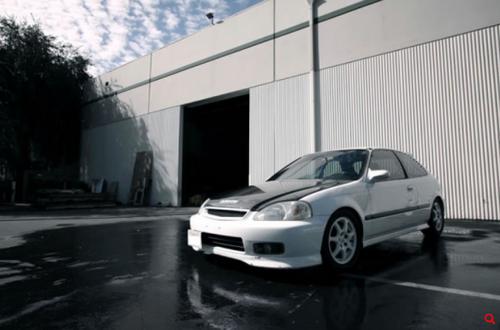 Seibon - OEM-style carbon fiber hood for 1999-2000 Honda Civic 2dr/3dr/4dr