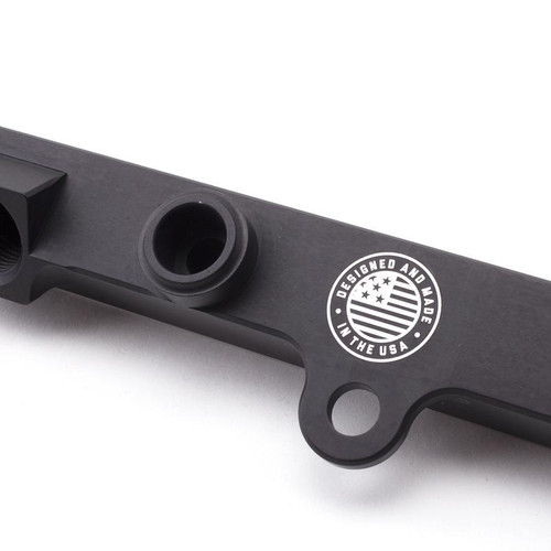 Hybrid Racing -  Black Fuel Rail with DC5/EP3 EFI Fitting