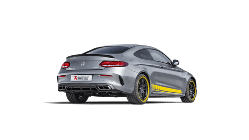 Akrapovič - 16-18' AMG C63 Coupe Evolution Line Titanium Cat-Back w/ Carbon Tips