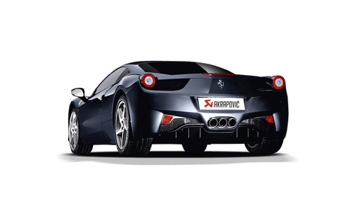 Akrapovic - 10-15' Ferrari 458 Italia/458 Spyder Slip-On Line Titanium Exhaust w/ Carbon Tips