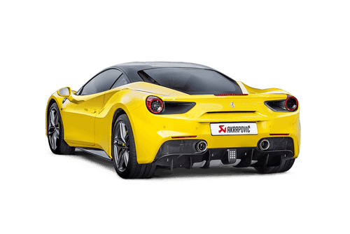 Akrapovic - 16-17' Ferrari 488 GTB/488 Spyder Slip-On Line Titanium Exhaust w/ Carbon Tips