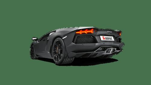 Akrapovic - 11-17' Lamborghini Aventador Slip-On Line Titanium-Inconel w/ Carbon Titanium Tips