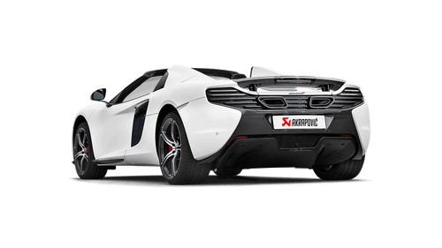 Akrapovic - 14-17' McLaren 650S/650S Spyder Slip-On Line Titanium Exhaust w/ Carbon Tips