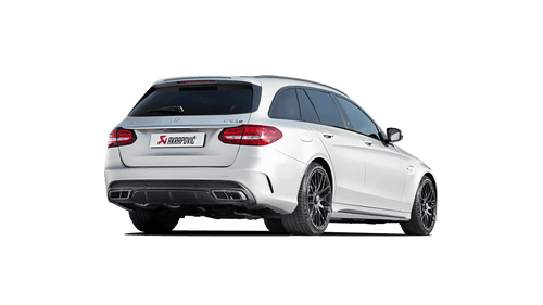 Akrapovic - 15-17' AMG C63 Estate Evolution Line Titanium Cat Back w/ Carbon Tips