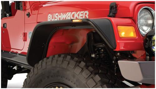 Bushwacker - 97-06' Jeep Wrangler (TJ) Flat Style Flares 4pc - Black