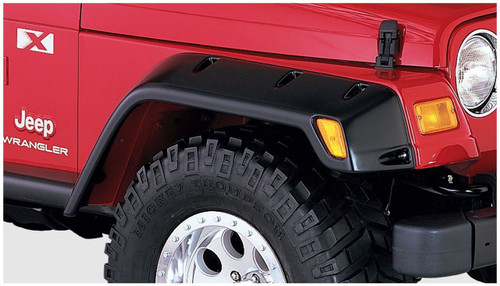 Bushwacker - 97-06' Jeep TJ Max Pocket Style Flares 4pc - Black