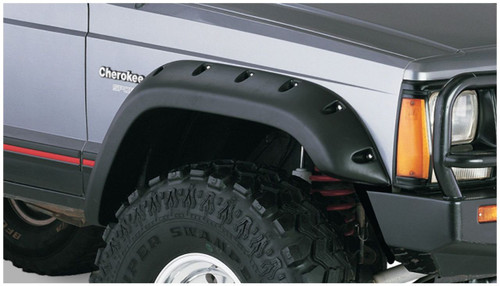Bushwacker - 84-01' Jeep Cherokee Cutout Style Flares 4pc - Black
