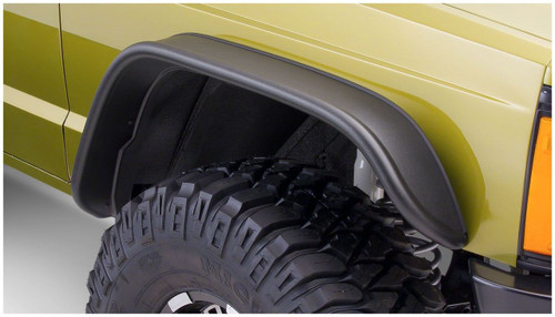 Bushwacker - 84-01' Jeep Cherokee Flat Style Flares 4pc - Black