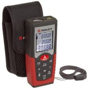Triplett LazerTape TLT-160 Laser Distance Meter with Carrying Case, 2-inch - ...