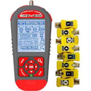 Triplett LVPRO30SR Multi-Cable Tester: RJ11, RJ45, COAX - Backlit Display + Test Module Capable + Smart Remotes