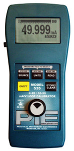 Piecal 535  10-50 mA & Voltage Process Calibrator, support older 10-50 mA loops