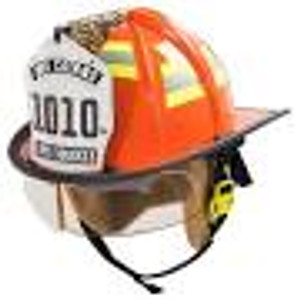 MSA 10184921 Fire Helmet,1010,Def,W,Std,Blear,Cveg,Ps