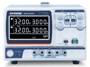 GW Instek GPE-2323 GPE-X323 Multi-Output DC Power Supply, 2 Channel, 192W, 0-32 VDC, 0-3A, Series/Parallel