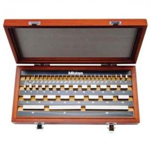 Mitutoyo 516-958-26 47pc.Gage Block Set,MM,Rect. Steel,ASME 0