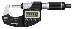 Mitutoyo 293-185-30 Quantumike Outside Micrometer, 0.00005% Accuracy, Black/Gray