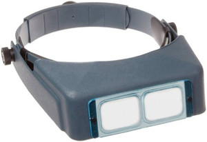 "Donegan Aven26104 DA-5 OptiVisor Headband Magnifier, 2.5x Magnification, 8"" Focal Length"