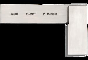 "Starrett SQUARE, STAINLESS, 4"" BLADE 3020-4"