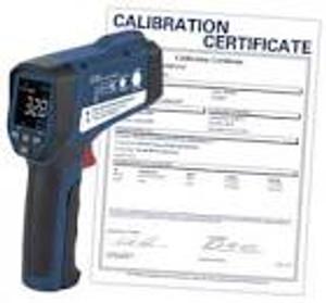 REED Instruments.  IR THERMOMETER, PROFESSIONAL, 50:1, -26/2282°F, -32/1250°C W/NIST CERT
