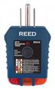 REED Instruments.  RECEPTACLE TESTER, GFCI