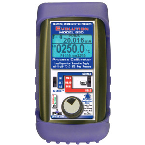 PIE 830 Multifunction Diagnostic dual channel calibrator. Comes withrubber boot, hands free carrying case, test leads and NIST cert.