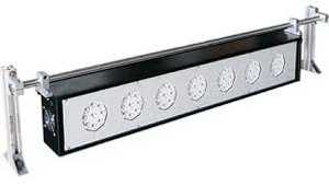 """Nidec. Blacklight LED Strobe Array with 24"""" ( 600 mm) width.  120  VAC power, 36  LED's in 4 groups ST-329BL-2"""