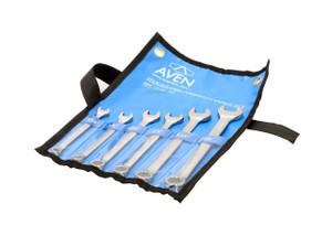 Aven 21187-105 Stainless Steel Combination Wrench Set, 6-piece in Roll Up Pouch