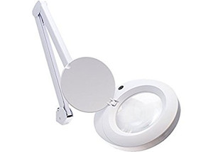 Aven 26501-SIV White ProVue Magnifying Lamp, 22W Fluorescent Bulb, 2.25X Magn...