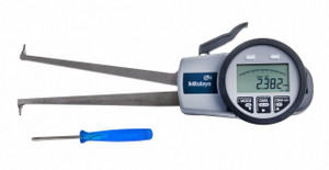 """Mitutoyo 209-906 Digital Caliper Gage, 1.38-2.95"""", 0.001"""", 132 mm Depth with Internal Tube Thickness Measurement"""