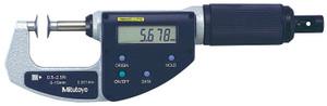Mitutoyo 227-221 Disk Micrometer, Quickmike Type, Ratchet Stop, 0-15mm Range, 0.001mm Graduation, +/-0.004mm Accuracy, 0.5-2.5N Measuring Force