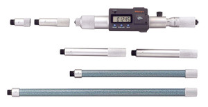 """Mitutoyo 337-303 Digimatic Tubular LCD Inside Micrometer, Extension Rod Type, 8-40"""" Range, 0.0001"""" Graduation, +/-0.00092"""" Accuracy, 6 pcs Extension Rods"""