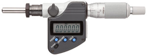 """Mitutoyo 350-353-10 Digimatic LCD Micrometer Head, 0-1""""/0-25.4mm Range, 0.001mm/0.00005"""" Graduation, +/-0.002mm & +/-0.0001"""" Accuracy, Ratchet Stop Thimble, Spherical SR4 Face"""