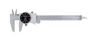 "Mitutoyo 505-742-56 D6""TX-6 Dial Caliper, Black Face, 0.1""/Rev, 0""-6"", 0.001"""