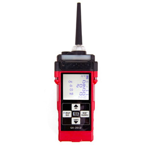 RKI Instruments GX-2012 Four-Gas Detector LEL / O2 / H2S / CO Alkaline and Li-Ion battery pack with 100-240 VAC Charger