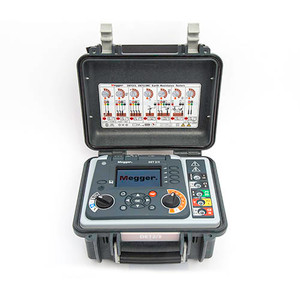 Megger DET2/3 Advanced 4-Terminal Ground Tester with High Resolution, Onboard Memory, Color Display
