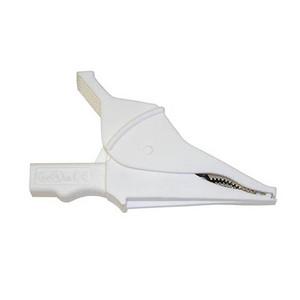 Clip – Safety Alligator - White {Rated 1000V CAT IV, 15A, UL}