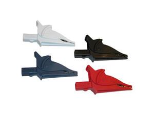 Clip – Set of 4, Safety Alligator (Red, Black, Blue & White)  {Rated 1000V CAT IV, 15A, UL}