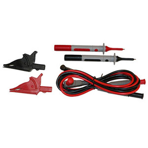 d - Set of 2, 5 ft. Color-coded (Red/Black) Silicone Leads, Test Probes & Alligator Clips {Rated 1000V CAT IV} Replacement  for Models 401, 403, 405, 407, 601, 603, 605, 607, F05, F09, 6522-6536 Series
