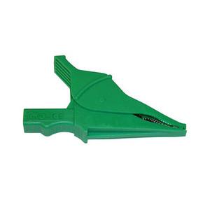 Clip – Safety Alligator - Green {Rated 1000V CAT IV, 15A, UL}