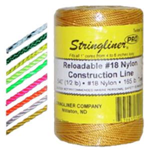 U.S. Tape  25165  Fluorescent Yellow  STRINGLINER PRO REELS  250ft.(1/4lb.)BRAIDED