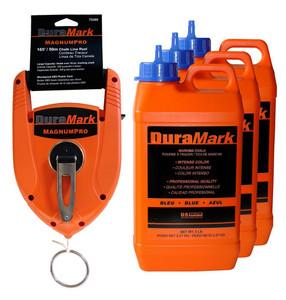 U.S. Tape  76180  Blue DuraMark Chalk - Professional quality; Intense color