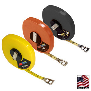 "U.S. Tape  58610  LONG TAPES  Orange case  ft/in/8ths   3/8"" x  50'"