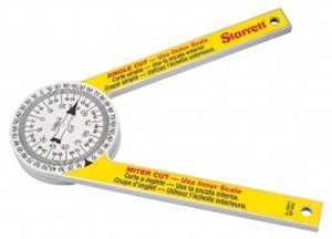 "Starrett 505P-7 Hardened Plastic Miter Saw Protractor - 7"""