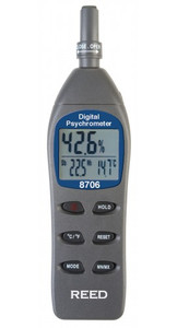 REED Instruments 8706-NIST DIGITAL PSYCHROMETER W/NIST CERT