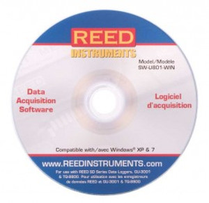REED Instruments SW-U801-WIN SOFTWARE, 8 CHANNEL FOR WINDOWS XP / 7
