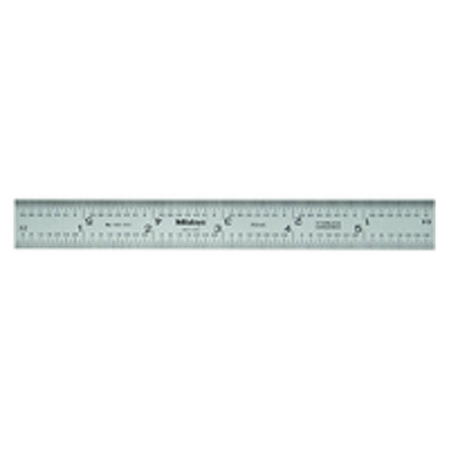 """Mitutoyo 180-402U, 6"""" (16R) (1/32"""", 1/64"""", 1/50"""", 1/100""""), Steel Blade for Combination Square"""