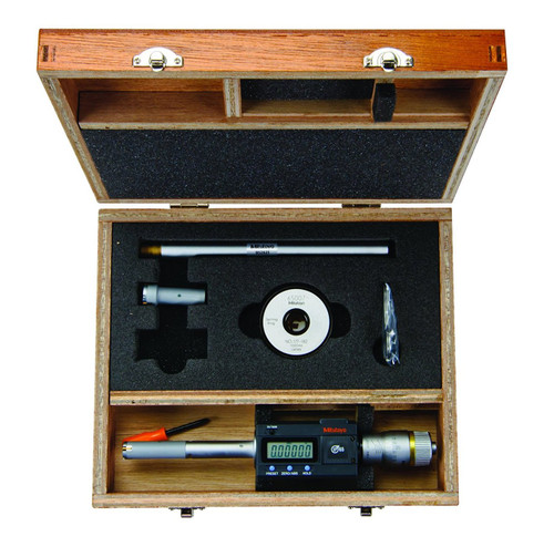 Mitutoyo 468-977 Digimatic Holtest LCD Inside Micrometer,Interchangeable Head Set