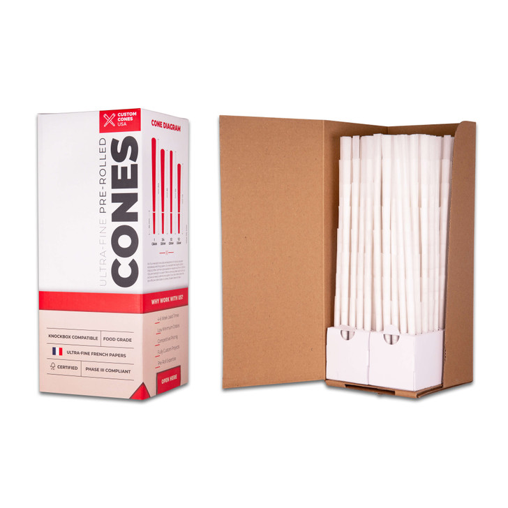98mm Pre-Rolled Cones - Refined White [800 Cones per Box]