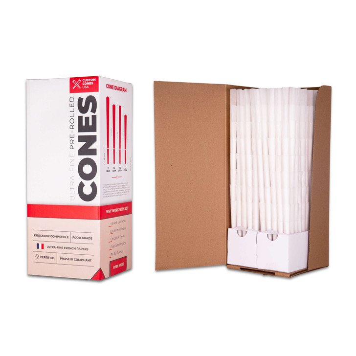 109mm Pre-Rolled Cones - Refined White [800 Cones per Box]