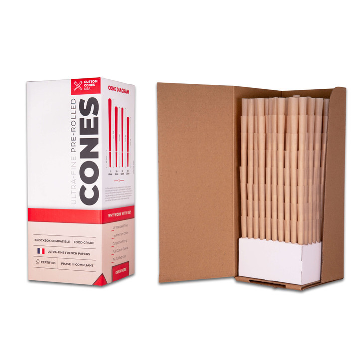 109mm Pre-Rolled Cones  - Unrefined Brown [800 Cones per Box]